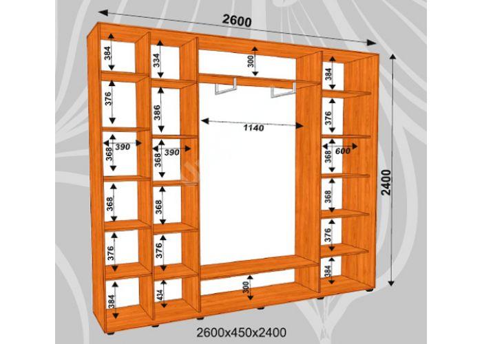 Шкаф-купе Сенатор Фото / 2600*450*2400 мм, Шкафы-купе, Стоимость 34200 рублей., фото 2