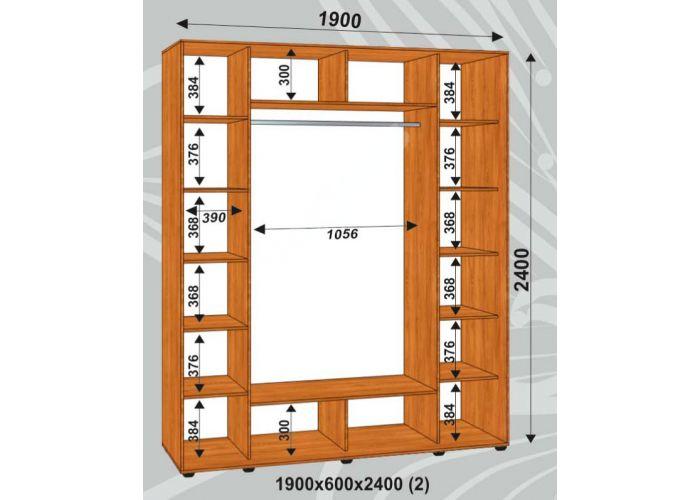 Шкаф-купе Сенатор Лакобель / 1900*600*2400 (2) мм, Шкафы-купе, Стоимость 30525 рублей., фото 2
