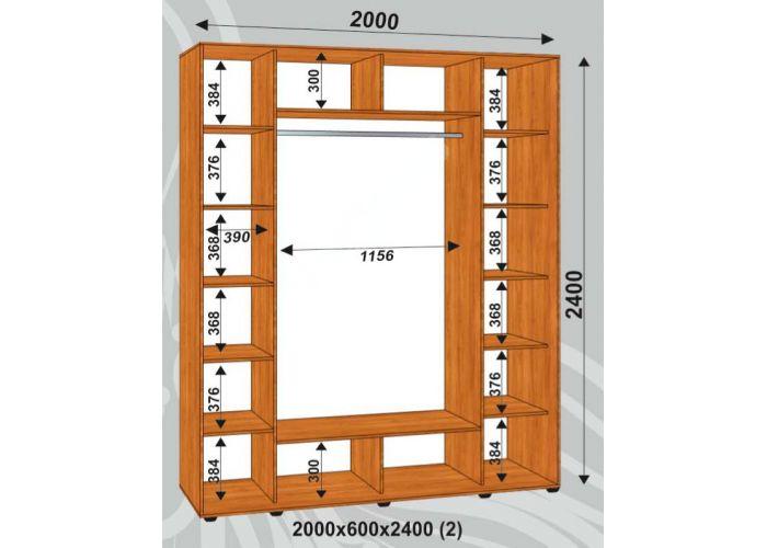 Шкаф-купе Сенатор Фото / 2000*600*2400 (2) мм, Шкафы-купе, Стоимость 29625 рублей., фото 2