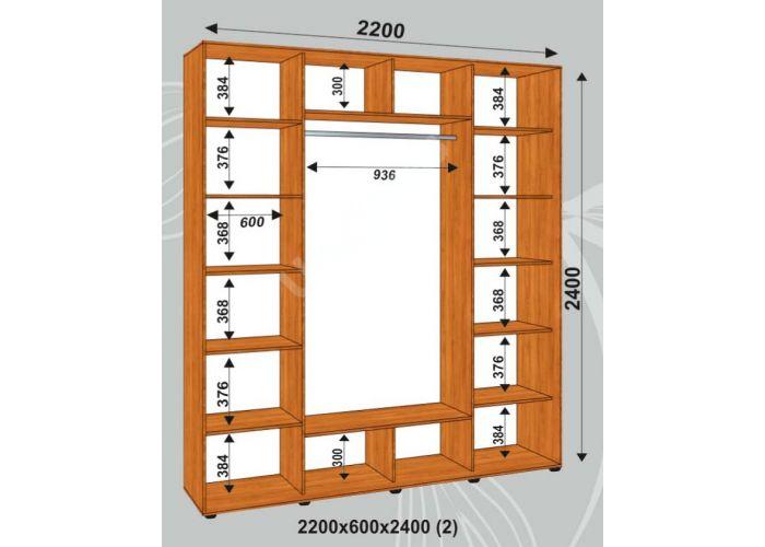 Шкаф-купе Сенатор Фото / 2200*600*2400 (2) мм, Шкафы-купе, Стоимость 31650 рублей., фото 2