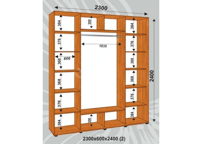 Шкаф-купе Сенатор Лакобель / 2300*600*2400 (2) мм