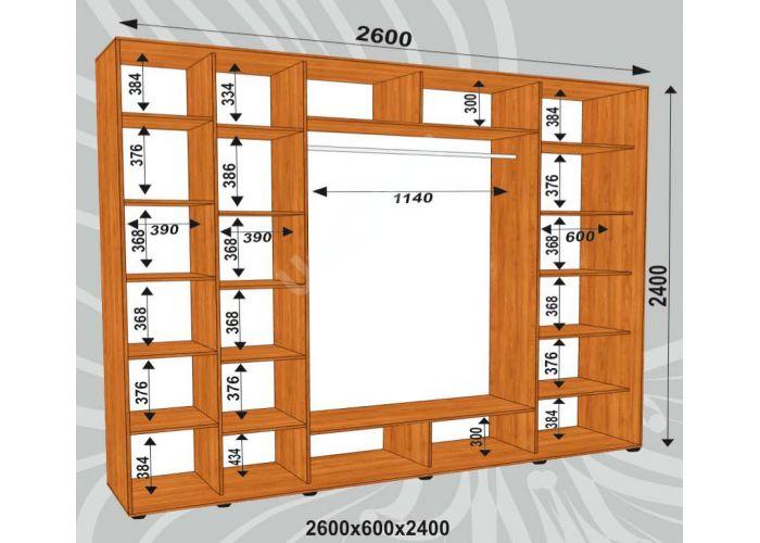 Шкаф-купе Сенатор Акрил / 2600*600*2400 мм, Шкафы-купе, Стоимость 38100 рублей., фото 2