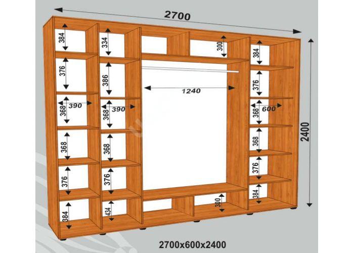 Шкаф-купе Сенатор Фото / 2700*600*2400 мм, Шкафы-купе, Стоимость 37800 рублей., фото 2