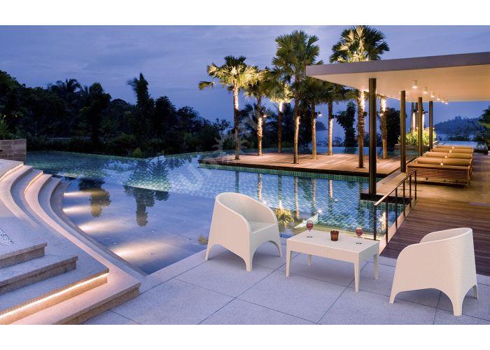 Майами Сиеста стол 855 53х92 белый, Пляж и сад, Уличная мебель, Столы, Стоимость 5055 рублей., фото 2