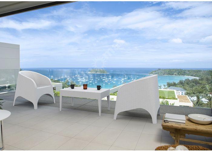 Майами Сиеста стол 855 53х92 белый, Пляж и сад, Уличная мебель, Столы, Стоимость 5055 рублей., фото 4
