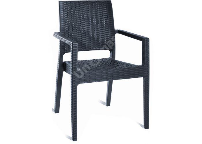 Ибица Сиеста кресло 810 тёмно-серое, Пляж и сад, Уличная мебель, Стулья и кресла, Стоимость 5700 рублей.