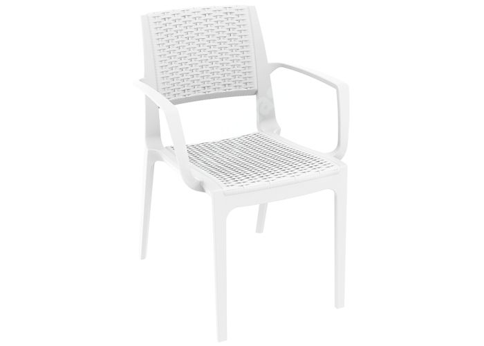 Капри Сиеста кресло 820 белое, Пляж и сад, Уличная мебель, Стулья и кресла, Стоимость 5190 рублей.