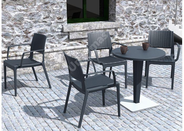 Капри Сиеста кресло 820 тёмно-серое, Пляж и сад, Уличная мебель, Стулья и кресла, Стоимость 5190 рублей., фото 3