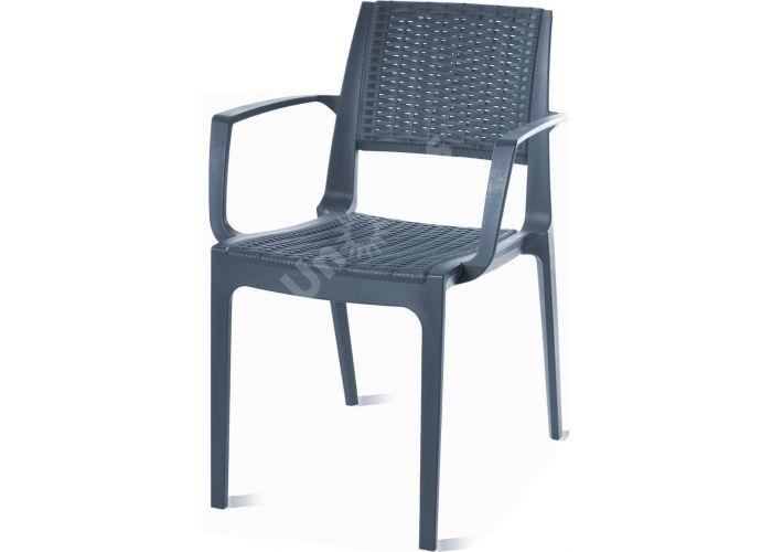 Капри Сиеста кресло 820 тёмно-серое, Пляж и сад, Уличная мебель, Стулья и кресла, Стоимость 5190 рублей., фото 4