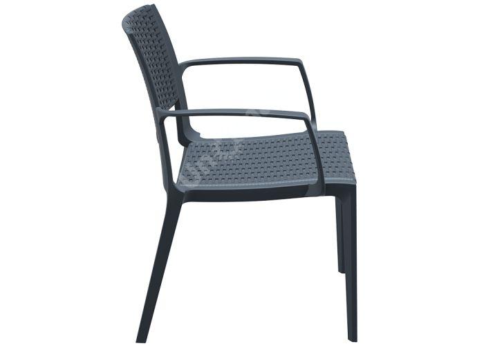 Капри Сиеста кресло 820 тёмно-серое, Пляж и сад, Уличная мебель, Стулья и кресла, Стоимость 5190 рублей.