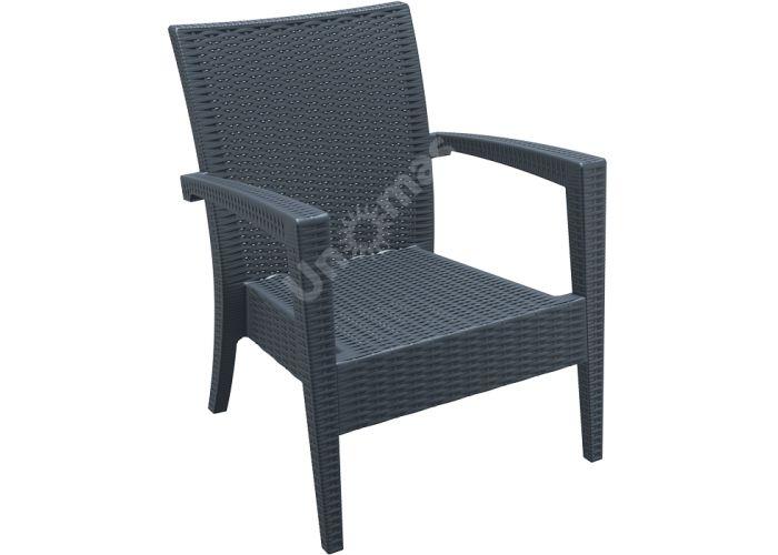 Майами Сиеста кресло 850 тёмно-серое, Пляж и сад, Уличная мебель, Стулья и кресла, Стоимость 11385 рублей.