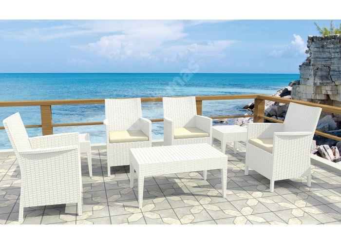 Майами Сиеста стол 855 53х92 белый, Пляж и сад, Уличная мебель, Столы, Стоимость 5055 рублей., фото 3