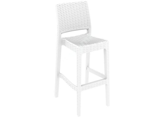Ямайка Сиеста барный стул 866 белый, Пляж и сад, Уличная мебель, Стулья и кресла, Стоимость 6330 рублей.