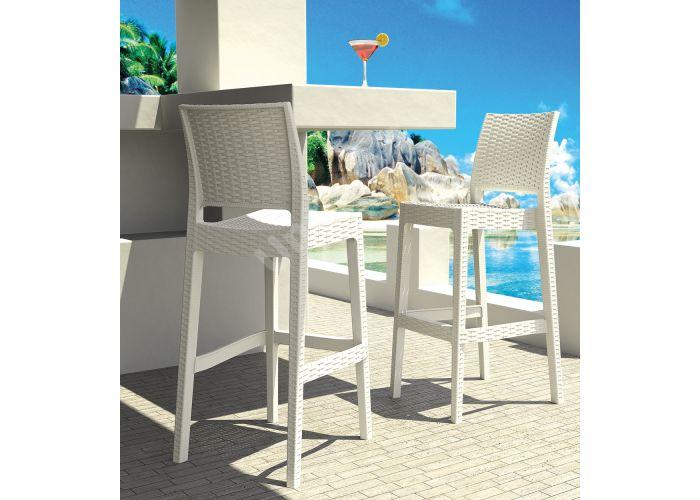Ямайка Сиеста барный стул 866 белый, Пляж и сад, Уличная мебель, Стулья и кресла, Стоимость 6330 рублей., фото 2