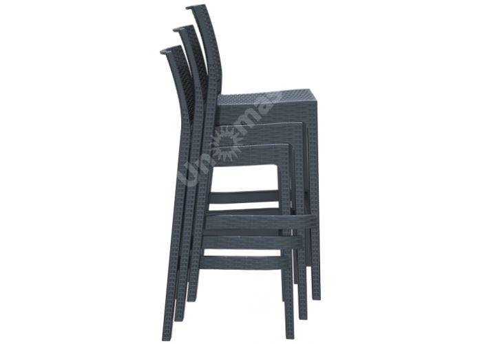 Ямайка Сиеста барный стул 866 тёмно-серый , Пляж и сад, Уличная мебель, Стулья и кресла, Стоимость 6330 рублей.