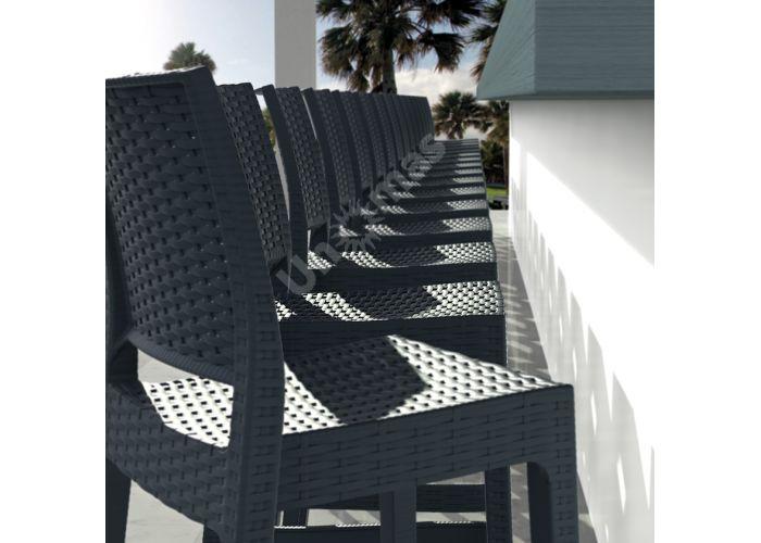 Ямайка Сиеста барный стул 866 тёмно-серый , Пляж и сад, Уличная мебель, Стулья и кресла, Стоимость 6330 рублей., фото 2