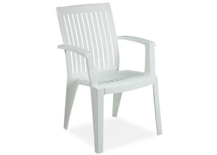 Ализе Пластиковое кресло белое, Пляж и сад, Уличная мебель, Стулья и кресла, Стоимость 2460 рублей.