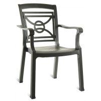 Коммадоре Антрацит Пластиковое кресло