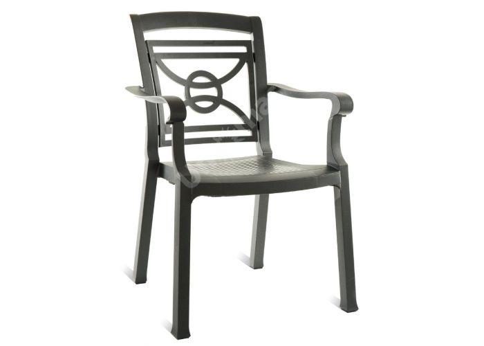 Коммадоре Антрацит Пластиковое кресло , Пляж и сад, Уличная мебель, Стулья и кресла, Стоимость 3645 рублей.