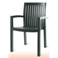 Нета Пластиковое кресло зеленое