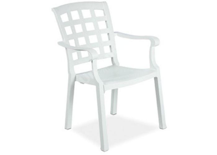 Паша Пластиковое кресло белое, Пляж и сад, Уличная мебель, Стулья и кресла, Стоимость 3285 рублей.