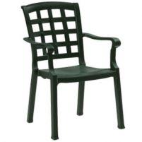 Паша Пластиковое кресло темно-зеленое