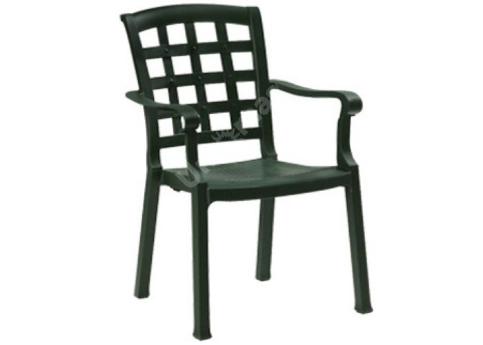 Паша Пластиковое кресло темно-зеленое, Пляж и сад, Уличная мебель, Стулья и кресла, Стоимость 3285 рублей.