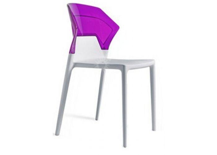 Эго-С Пластиковый стул белый прозр. фиол., Кухни, Стулья и табуреты, Пластиковые стулья, Стоимость 8460 рублей.