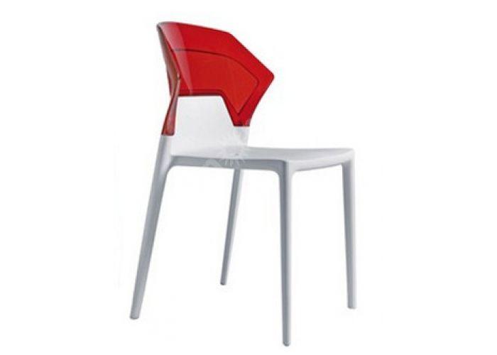 Эго-С Пластиковый стул белый прозр. красн., Кухни, Стулья и табуреты, Пластиковые стулья, Стоимость 8565 рублей.