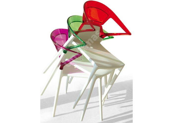 Эго-К Пластиковое кресло белое зелен. прозр., Кухни, Стулья и табуреты, Пластиковые стулья, Стоимость 9240 рублей., фото 2
