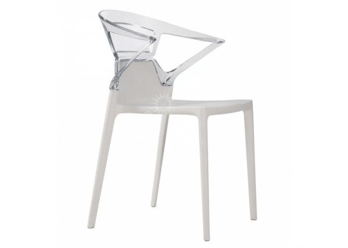 Эго-К Пластиковое кресло белое прозр., Кухни, Стулья и табуреты, Пластиковые стулья, Стоимость 9240 рублей.