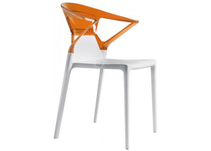 Эго-К Пластиковое кресло белое оранж. прозр., Кухни, Стулья и табуреты, Пластиковые стулья, Стоимость 9240 рублей.