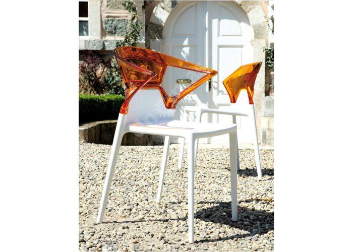 Эго-К Пластиковое кресло белое оранж. прозр., Кухни, Стулья и табуреты, Пластиковые стулья, Стоимость 9240 рублей., фото 3