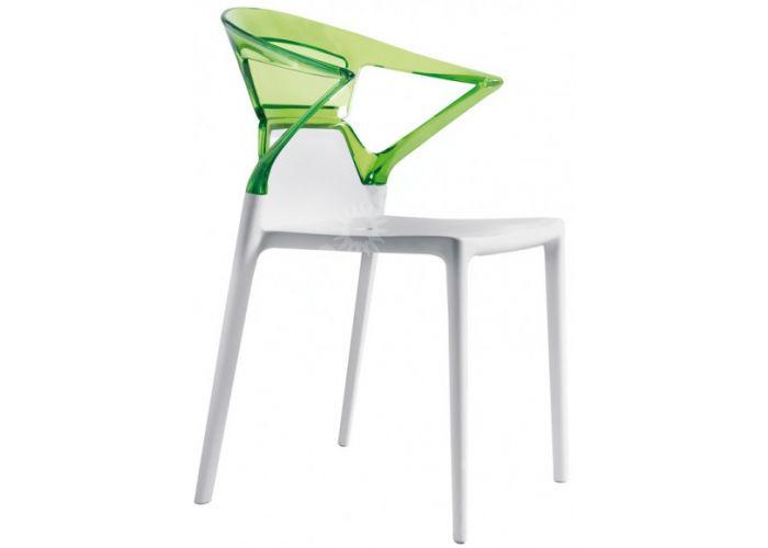 Эго-К Пластиковое кресло белое зелен. прозр., Кухни, Стулья и табуреты, Пластиковые стулья, Стоимость 9240 рублей.
