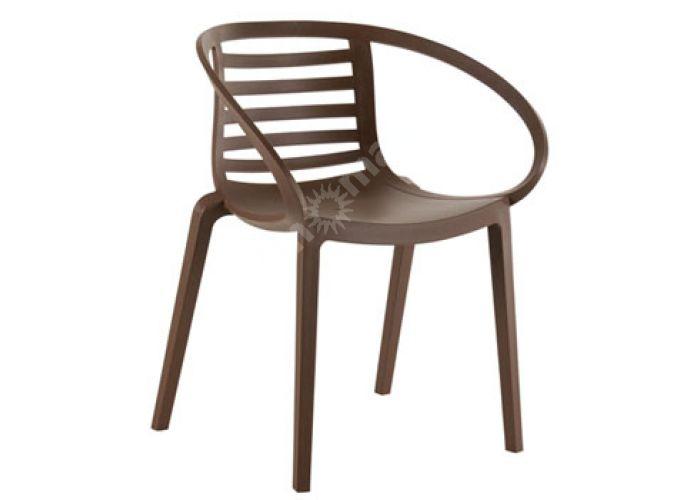 Мамбо Пластиковое кресло коричневое, Пляж и сад, Уличная мебель, Стулья и кресла, Стоимость 7665 рублей.