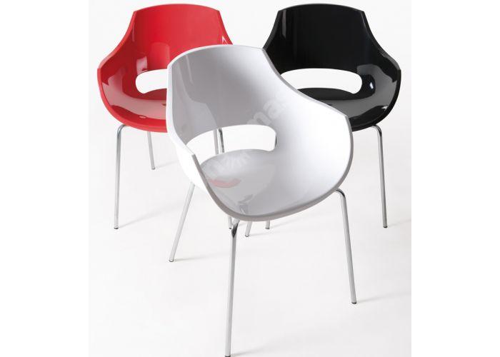 Опал Пластиковое кресло черное, Кухни, Стулья и табуреты, Пластиковые стулья, Стоимость 11880 рублей., фото 2