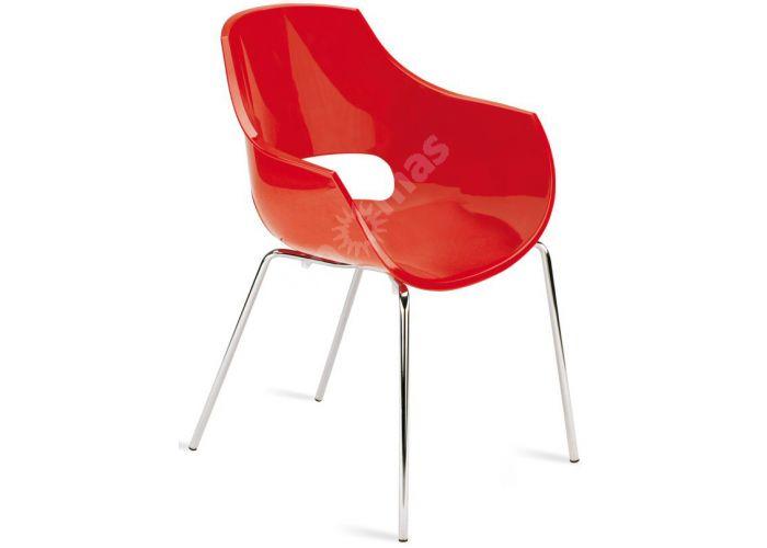 Опал Пластиковое кресло красное, Кухни, Стулья и табуреты, Пластиковые стулья, Стоимость 12300 рублей.