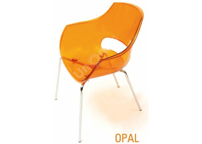 Опал Пластиковое кресло оранжевое прозрачное, Кухни, Стулья и табуреты, Пластиковые стулья, Стоимость 11880 рублей.