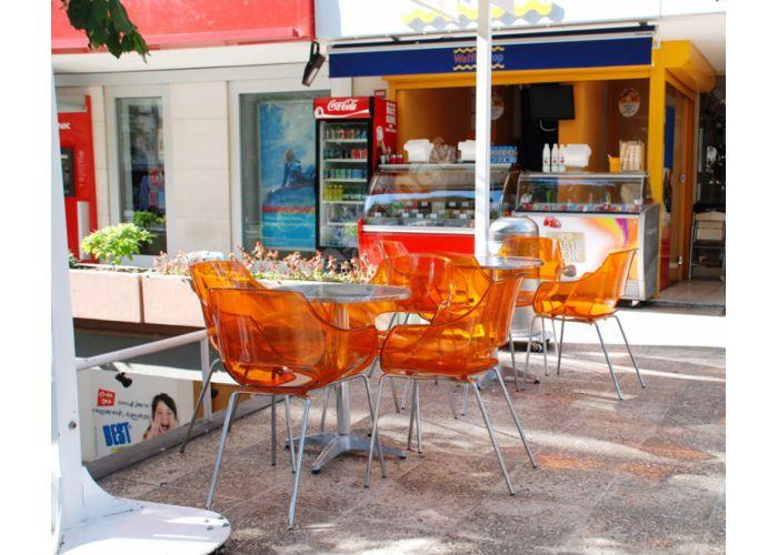 Опал Пластиковое кресло оранжевое прозрачное, Кухни, Стулья и табуреты, Пластиковые стулья, Стоимость 11880 рублей., фото 2