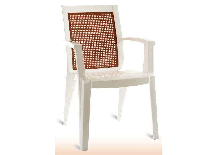 Сапфир Пластиковое кресло белое, Пляж и сад, Уличная мебель, Стулья и кресла, Стоимость 2775 рублей.
