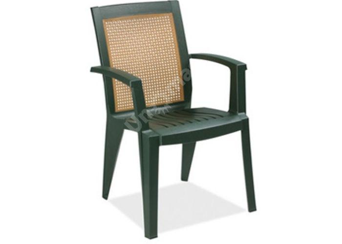 Сапфир Пластиковое кресло зеленое, Пляж и сад, Уличная мебель, Стулья и кресла, Стоимость 2775 рублей.