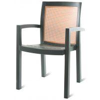 Вира Пластиковое кресло темно-зеленое