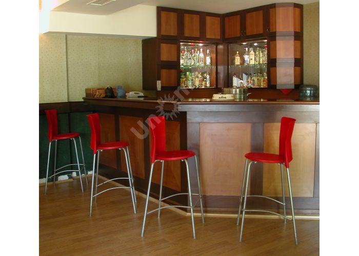Вега Пластиковый барный стул красный, Кухни, Стулья и табуреты, Стулья на металлическом каркасе, Стоимость 6345 рублей., фото 2