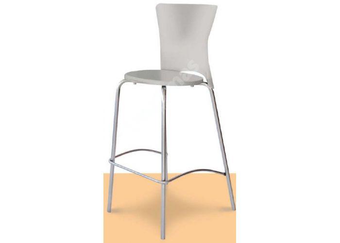 Вега Пластиковый барный стул серый, Кухни, Стулья и табуреты, Стулья на металлическом каркасе, Стоимость 6345 рублей.