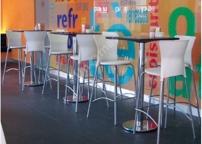 Вега Пластиковый барный стул серый, Кухни, Стулья и табуреты, Стулья на металлическом каркасе, Стоимость 6345 рублей., фото 2