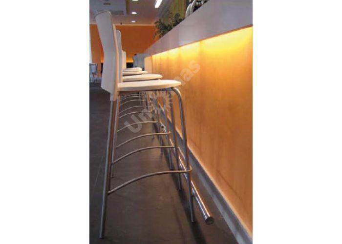 Вега Пластиковый барный стул серый, Кухни, Стулья и табуреты, Стулья на металлическом каркасе, Стоимость 6345 рублей., фото 3