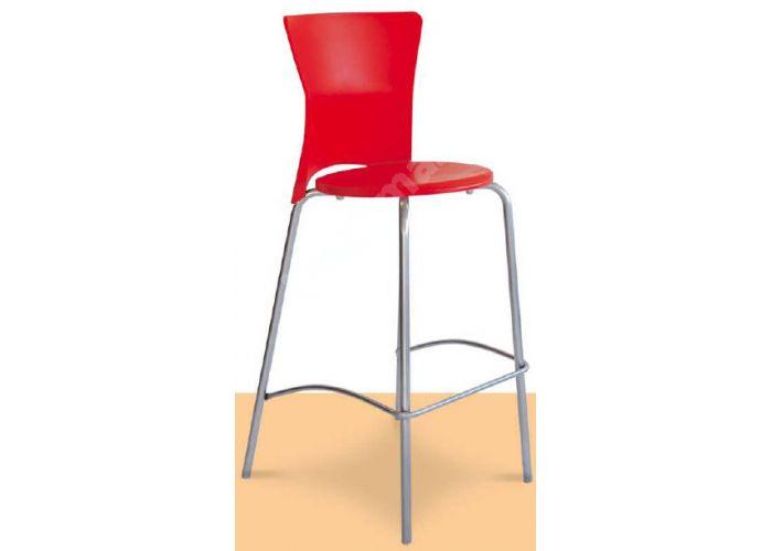 Вега Пластиковый барный стул красный, Кухни, Стулья и табуреты, Стулья на металлическом каркасе, Стоимость 6345 рублей.