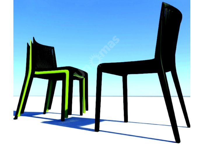 Кул Пластиковый стул черный, Пляж и сад, Уличная мебель, Стулья и кресла, Стоимость 6075 рублей., фото 3