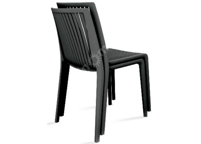 Кул Пластиковый стул черный, Пляж и сад, Уличная мебель, Стулья и кресла, Стоимость 6075 рублей., фото 2