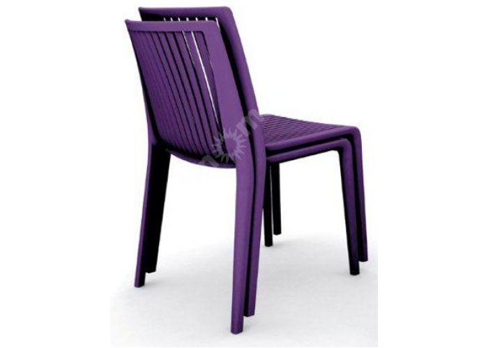 Кул Пластиковый стул пурпурный, Пляж и сад, Уличная мебель, Стулья и кресла, Стоимость 6180 рублей., фото 2